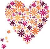 Coração feito das flores Fotografia de Stock