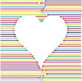Coração feito das linhas de cor, ilustração do vetor Imagem de Stock
