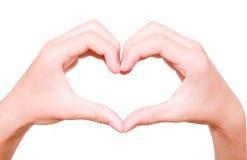 Coração feito das mãos Fotos de Stock