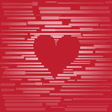 Coração feito das placas fotografia de stock