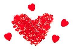 Coração feito de corações decorativos Fotos de Stock