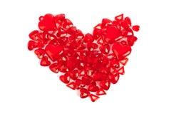 Coração feito de corações decorativos Fotos de Stock Royalty Free