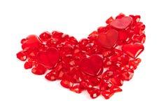 Coração feito de corações decorativos Imagens de Stock