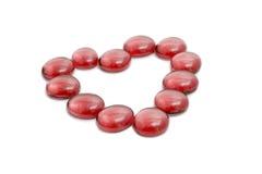 Coração feito de pedras transparentes Fotografia de Stock Royalty Free