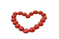 Coração feito de pedras transparentes Imagem de Stock