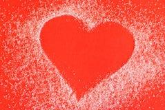 Coração feito do açúcar fotografia de stock royalty free