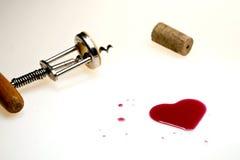 Coração feito do vinho Fotografia de Stock
