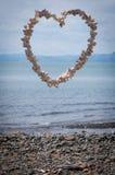 Coração feito dos escudos Imagens de Stock Royalty Free