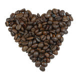 Coração feito dos grãos de café Imagens de Stock Royalty Free