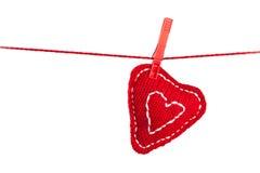 Coração feito malha Foto de Stock Royalty Free