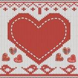 Coração feito malha Imagens de Stock