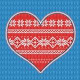 Coração feito malha Foto de Stock