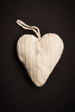 Coração feito malha Imagem de Stock Royalty Free