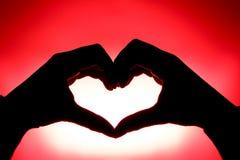 Coração feito pelas mãos Fotos de Stock Royalty Free