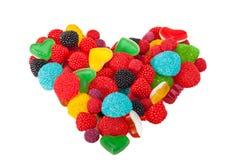 Coração feito por doces Imagem de Stock