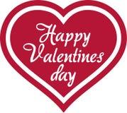 Coração feliz do dia de Valentim ilustração stock