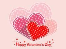 Coração feliz do símbolo do amor do dia do ` s do Valentim no fundo da cor HOL Imagem de Stock Royalty Free