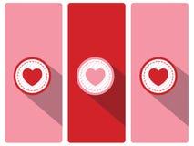 Coração feliz do símbolo do amor do dia do ` s do Valentim no fundo da cor HOL Fotos de Stock Royalty Free