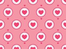 Coração feliz do símbolo do amor do dia do ` s do Valentim no fundo da cor HOL Foto de Stock