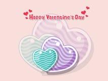 Coração feliz do símbolo do amor do dia do ` s do Valentim no fundo da cor HOL Imagens de Stock