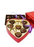 Coração festivo caixa dada forma dos chocolates imagem de stock royalty free