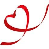 coração Fita-dado forma Fotos de Stock Royalty Free
