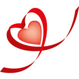 coração Fita-dado forma Imagem de Stock Royalty Free