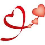 coração Fita-dado forma Foto de Stock