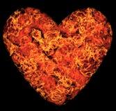 Coração flamejante Imagens de Stock Royalty Free