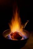Coração flamejante. Fotografia de Stock Royalty Free