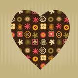 Coração floral Imagem de Stock