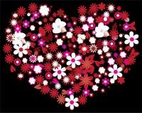 Coração floral Fotografia de Stock Royalty Free