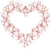 Coração floral ilustração do vetor