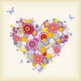 Coração floral Foto de Stock