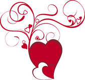 Coração floral Fotos de Stock Royalty Free