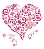 Coração floral abstrato ilustração royalty free