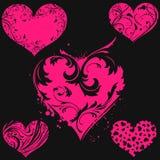Coração floral abstrato Imagem de Stock