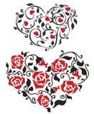Coração floral abstrato Fotografia de Stock