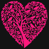 Coração floral abstrato Fotos de Stock