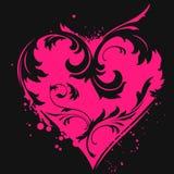 Coração floral abstrato Fotografia de Stock Royalty Free