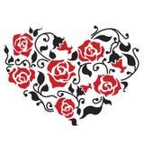 Coração floral abstrato Imagens de Stock Royalty Free