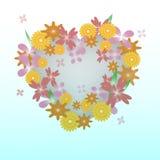Coração floral bonito Fotos de Stock Royalty Free