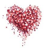 Coração floral bonito Cartão do Valentim Fotos de Stock