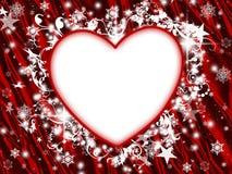 Coração floral do feriado de inverno ilustração royalty free