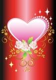 Coração floral do fundo ilustração do vetor