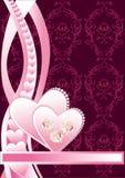 Coração floral do fundo Foto de Stock