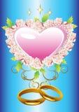 Coração floral do fundo Fotografia de Stock