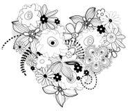Coração floral do vetor ilustração royalty free