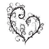Coração floral do vetor Fotografia de Stock