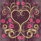 Coração floral do vetor Imagem de Stock Royalty Free